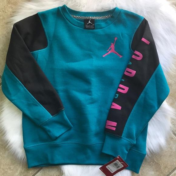Girls Blue Jordan Sweater Size